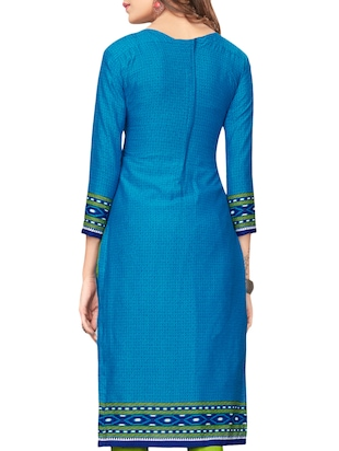 blue churidaar suit unstitched suit - 15021209 - Standard Image - 2