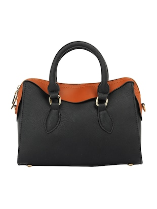 black leatherette  regular handbag - 15021670 - Standard Image - 2