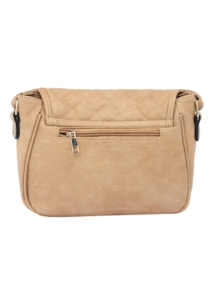 beige leatherette  regular sling bag - 15021681 - Standard Image - 2