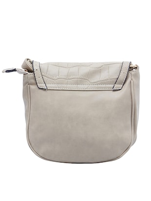 beige leatherette  regular sling bag - 15021685 - Standard Image - 2