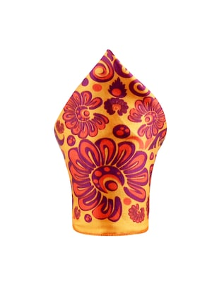 orange polyester pocketsquare - 15024015 - Standard Image - 2