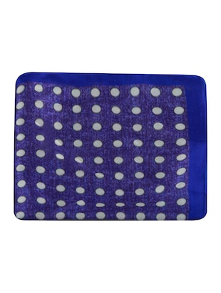 blue polyester pocketsquare - 15024023 - Standard Image - 5