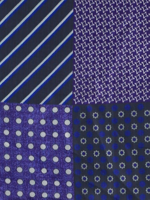 blue polyester pocketsquare - 15024023 - Standard Image - 8