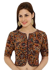multi colored printed stitched blouse -  online shopping for Blouses