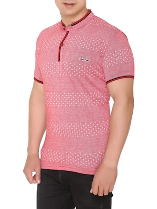 pink cotton all over print tshirt - 15025182 - Standard Image - 2