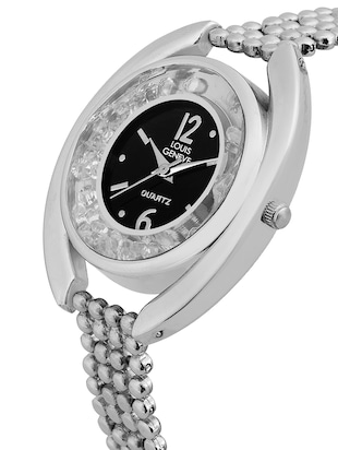 LOUIS GENEVE Black Dial Watch For Women - LG-LW-SBLACK-96 - 15025731 - Standard Image - 2
