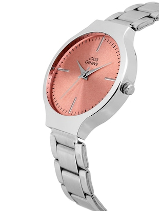 LOUIS GENEVE Red Dial Watch For Women - LG-LW-SS-RED-120 - 15025794 - Standard Image - 2