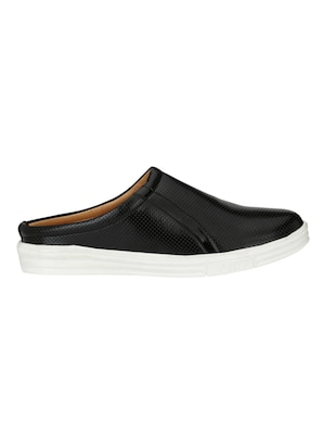 black Leatherette casual slipon - 15025988 - Standard Image - 2