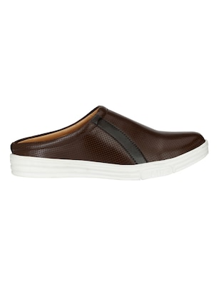 brown Leatherette casual slipon - 15025990 - Standard Image - 2