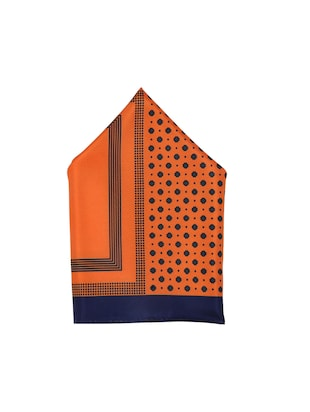 orange polyester pocketsquare - 15026009 - Standard Image - 2