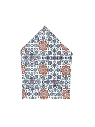 blue polyester pocketsquare - 15026010 - Standard Image - 2