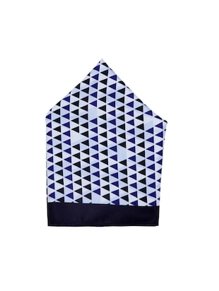 blue polyester pocketsquare - 15026016 - Standard Image - 2