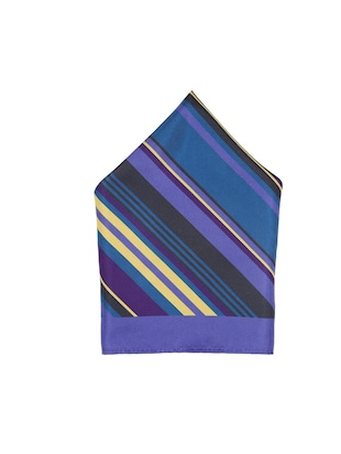 blue polyester pocketsquare - 15026017 - Standard Image - 2