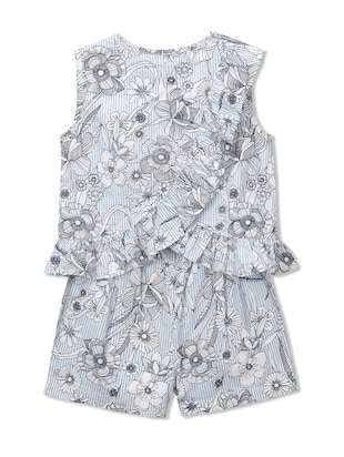 blue cotton playsuit - 15026263 - Standard Image - 2