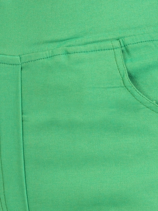 green cotton lycra jeggings - 15027531 - Standard Image - 5