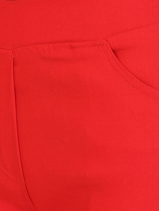 red cotton lycra jeggings - 15027538 - Standard Image - 5