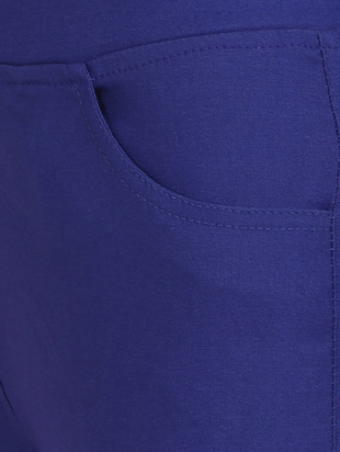 blue cotton lycra jeggings - 15027542 - Standard Image - 5