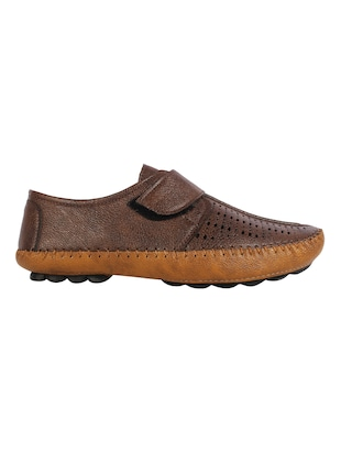 brown Leatherette slip on sandal - 15027577 - Standard Image - 2