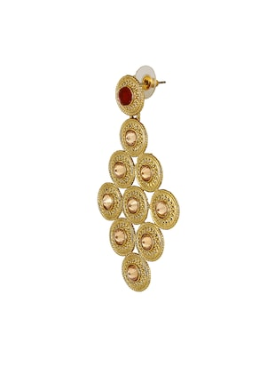 red brass drop earring - 15028247 - Standard Image - 2