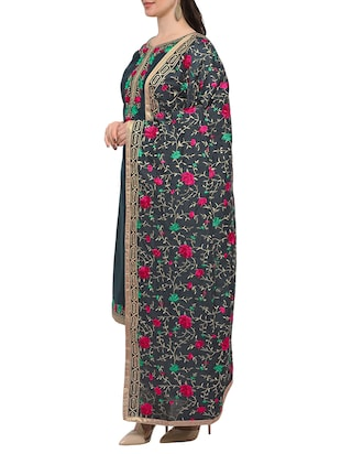 grey embroidered unstitched suit - 15029083 - Standard Image - 2