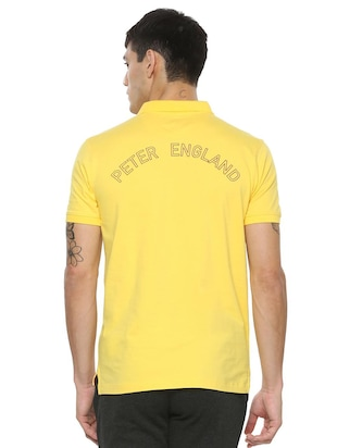 yellow cotton blend front print tshirt - 15030853 - Standard Image - 2