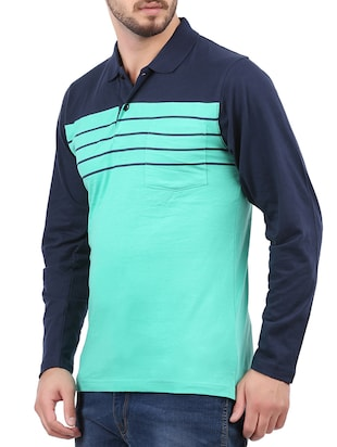 light blue cotton pocket t-shirt - 15032372 - Standard Image - 2