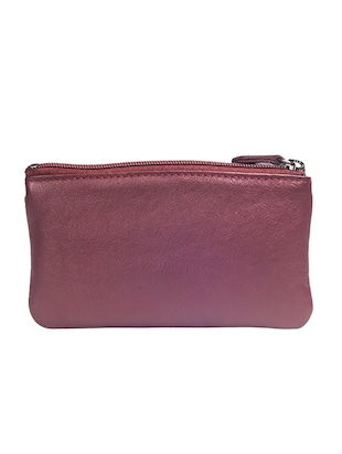 maroon leather wallet - 15032667 - Standard Image - 2