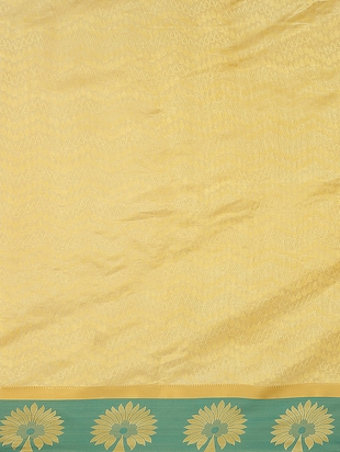 yellow art silk woven saree with blouse - 15032833 - Standard Image - 2