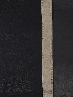 black art silk woven saree with blouse - 15032845 - Standard Image - 2