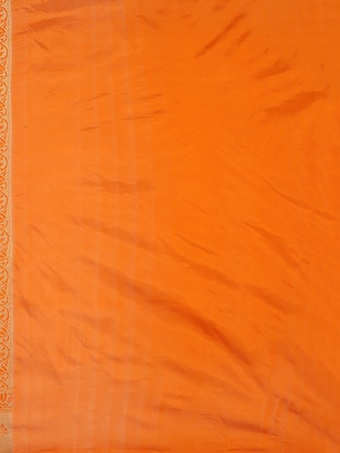 orange art silk kanjivaram saree with blouse - 15032853 - Standard Image - 2