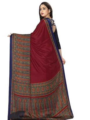 paisley bordered saree with blouse - 15032922 - Standard Image - 2