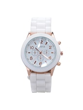 White Silicone Strap Women Wrist Watch (Mock Dial) -  online shopping for Analog watches