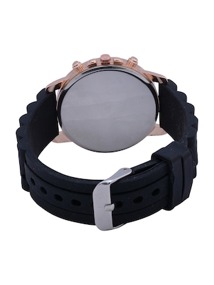 Black Silicone And Metal Strap Women Wrist Watch - 15033193 - Standard Image - 2