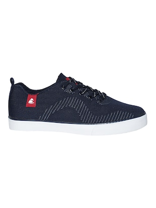 navy Fabric lace up sneaker - 15033342 - Standard Image - 2