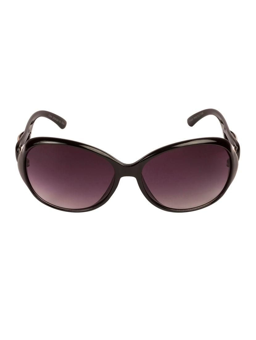 VESPL Black Full Rim Oversized UV Protected Sunglasses - V-6119 - By