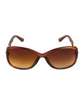 VESPL Brown Full Rim Oversized UV Protected Sunglasses - V-6124 - By