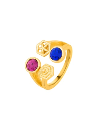 Gold brass hand ring - 15042145 - Standard Image - 2