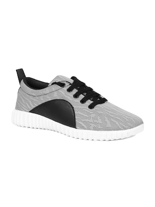 grey mesh laceup sports shoes -  online shopping for Sports Shoes