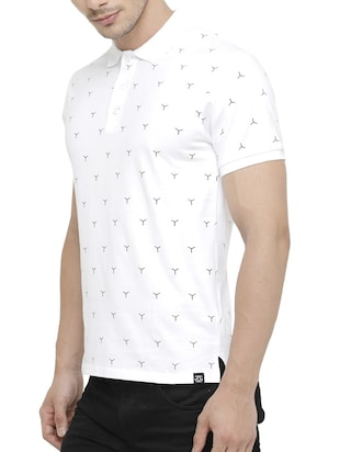 white cotton all over print tshirt - 15046638 - Standard Image - 2