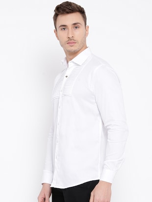 white cotton casual shirt - 15057547 - Standard Image - 2