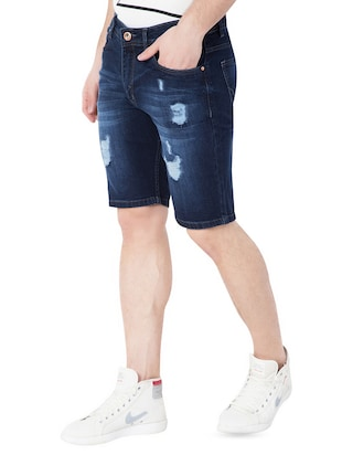 dark blue denim shorts - 15068354 - Standard Image - 2