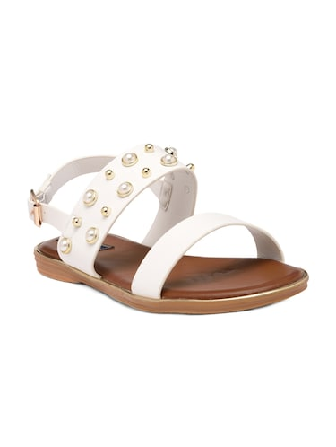 d3c6a464c97e Buy White T-strap Sandal for Women from Studio 09 for ₹1599 at 0 ...