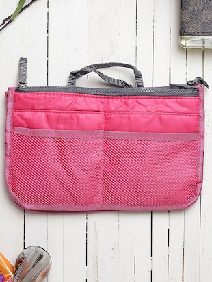red polyester utility bag - 15083657 - Standard Image - 5