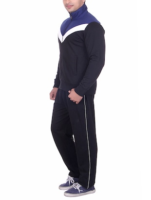 navy blue polyester track suit - 15085988 - Standard Image - 2