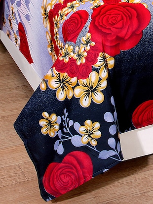 Polycotton Double Bedsheet With 2 Pillow Covers - 15090238 - Standard Image - 2