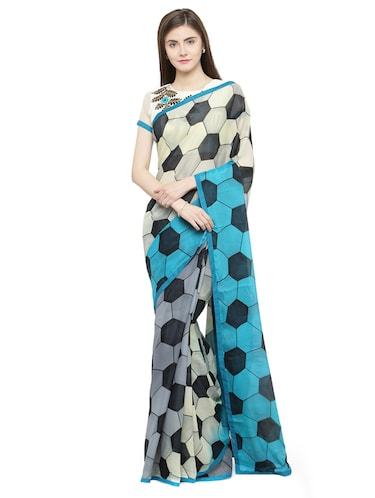 00cde2e55d5 Buy Grey Raw Silk Printed Saree With Blouse for Women from Snehika Sarees  for ₹1560 at 31% off