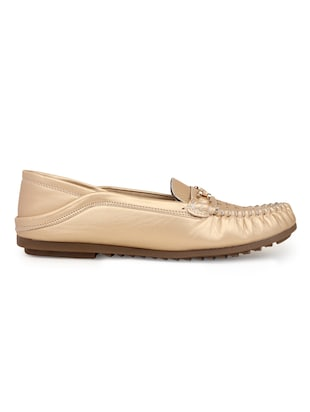 gold suede slip on loafers - 15106864 - Standard Image - 2