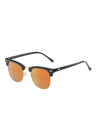 Semi Rimless Polorized Classic Club master Vintage Retro Design Brand with Sunglass Case - 15110838 - Standard Image - 2
