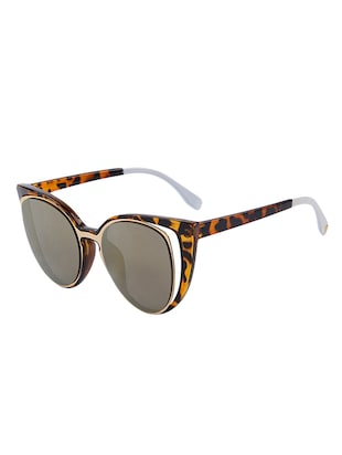Cat-Eye Sun-glasses for Women Men Latest Stylish Mirror - 15110866 - Standard Image - 2