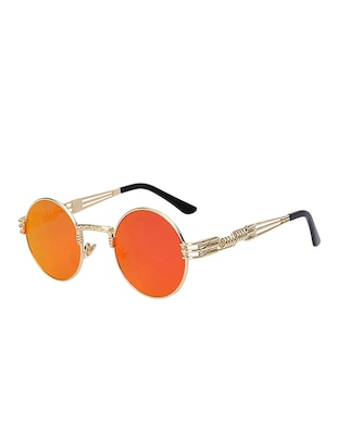 Round Vintage SteamPunk Sun-Glasses for Women Men Latest Stylish - 15110885 - Standard Image - 2